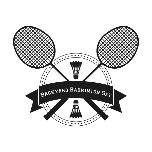 Backyard Badminton Set Logo