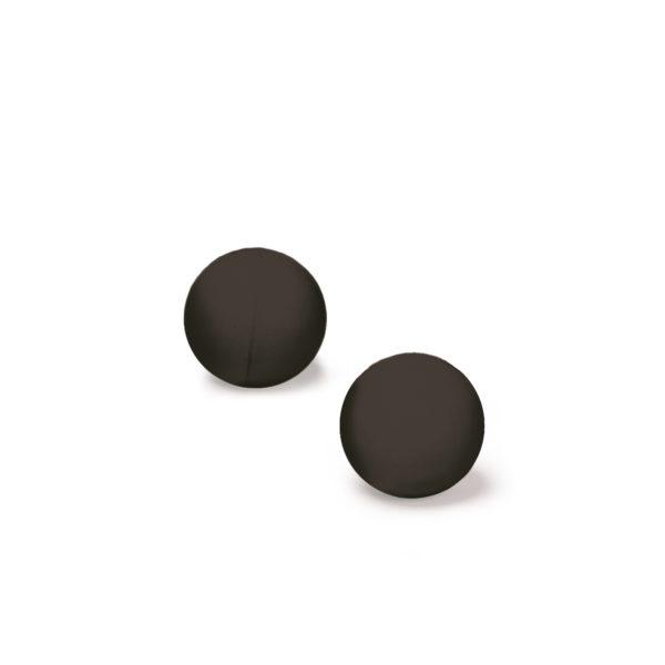 2 x Black Rubber Balls