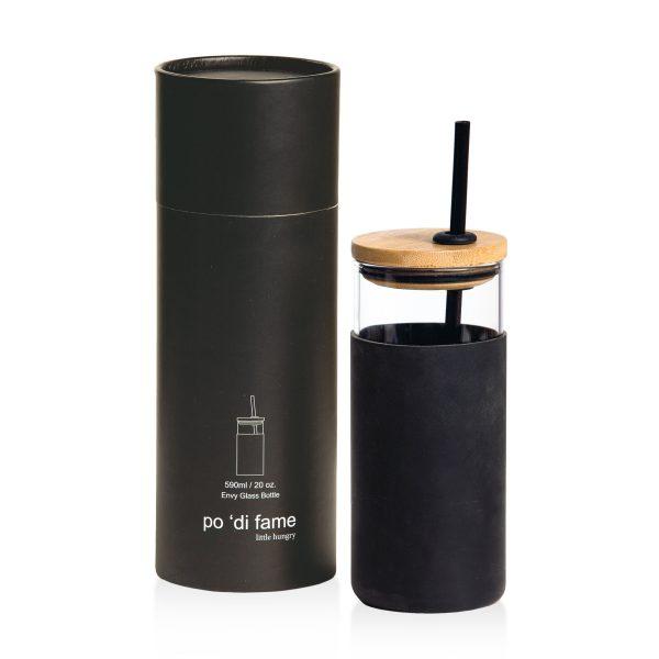 Black Envy Glass Bottle With Presentation Tube