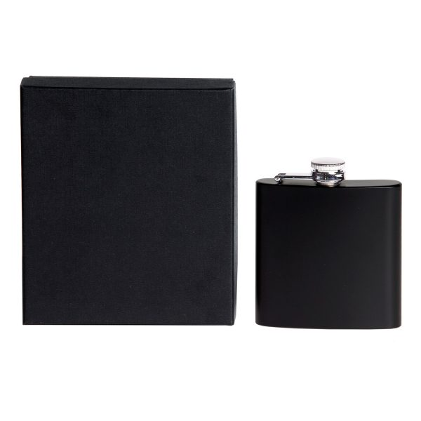 Flask with two part presentation box