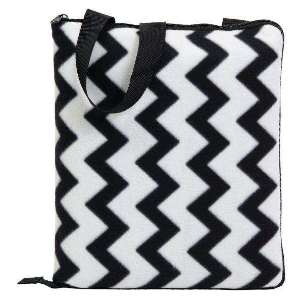 Black/White - Folded as Cushion