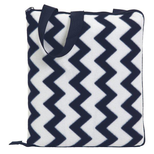 Navy/White - Folded as Cushion