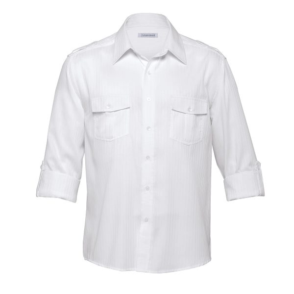 White - sleeves rolled up