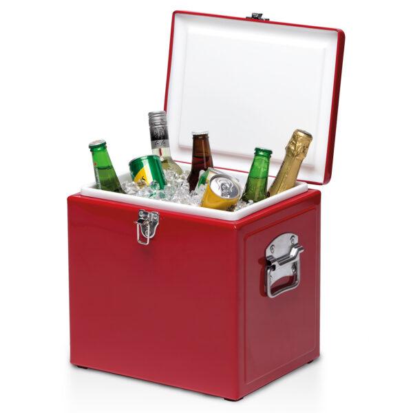 Vintage Cooler Box - Red